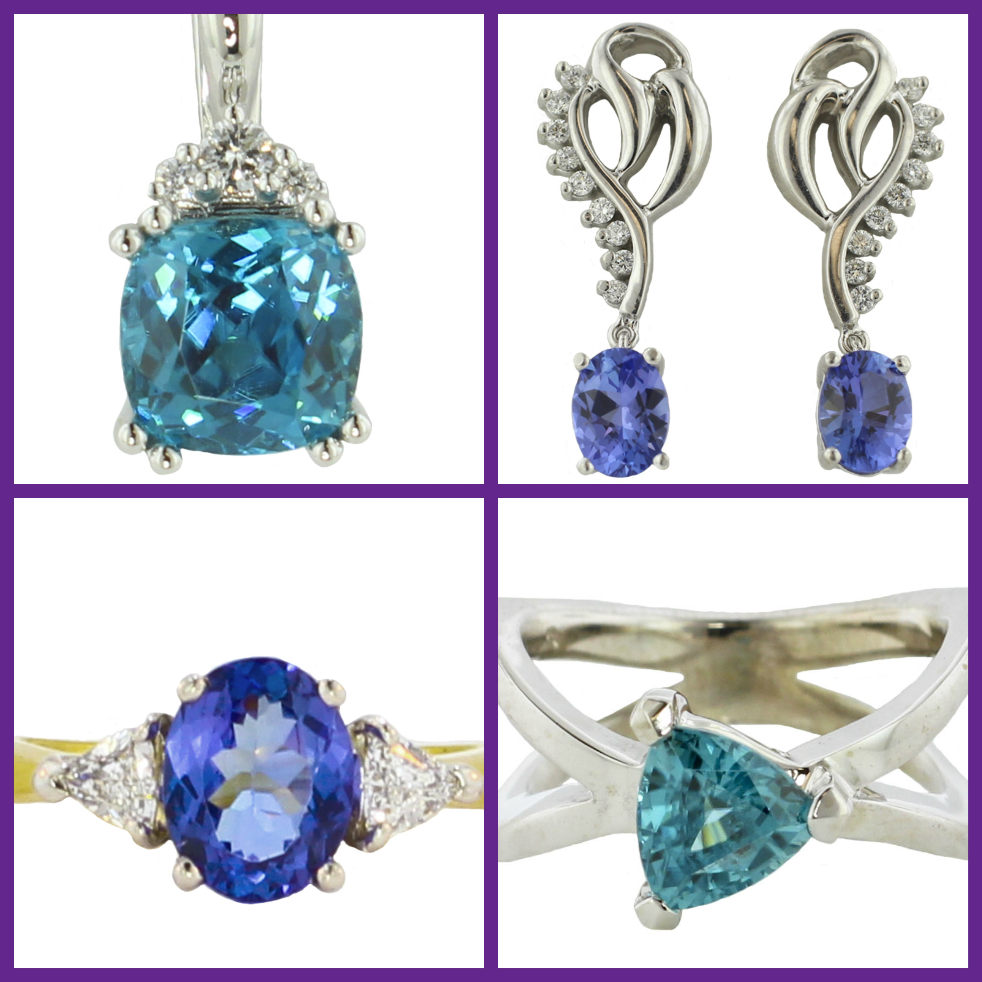 Birthstone of the Month: Blue Zircon and Tanzanite